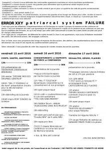 Programme Patriarcal System Failure
